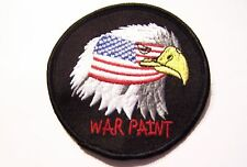 #0491 MOTORCYCLE VEST PATCH WAR PAINT