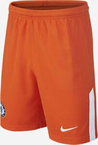 Nike Chelsea Junior G.K Home Shorts 2017/18 Orange 920399 815 Size L (12-13)