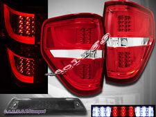 09-2014 Ford F150 XL XLT STX FX4 Pickup Tail Lights G2 Red + 3rd Brake Light