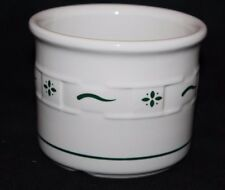 Longaberger Pottery Woven Traditions Crock Jar - Heritage Green / Ivory