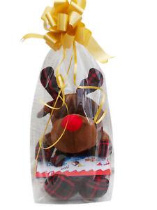 Noël Renne Nounours Ours Avec Choix De Chocolats Ou Bonbons Cadeau Enveloppé