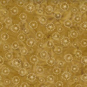 Kate Spain Felicity Batiks Stars Metallic Gold SKU 27311 184M Quilting Cotton