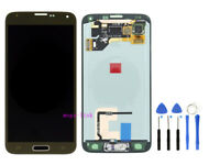 LCD Display Touch Screen Per Samsung Galaxy S5 G900 SM-G900F Oro + Tools
