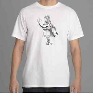 Alice in Wonderland T shirt, Flamingo Alice T-shirt,  Tim Burton Inspired, S-XL