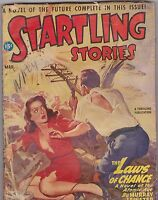 MARCH 1947 STARTLING STORIES - vintage science fiction pulp magazine