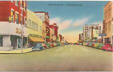 Street Scene in Valdosta GA Postcard