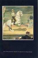 Hohe Schule Levade Kunstdruck von 1934 Arthur Kampf Reitkunst Kunstritt (N)