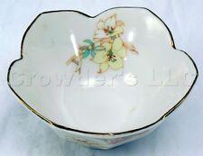 Porcelain Floral China Gold Rim Tulip Tea Light Holder Cup - Made in Japan