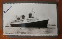 VINTAGE Ship France Ocean Cruise Liner NORMANDIE photograph 1930s 30s