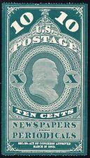 US STAMP BOB #PR2A 5c 1865 Newspaper Periodicals Stamp UNUSED NG $300 thin