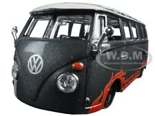 "VOLKSWAGEN VAN SAMBA GREY ""OUTLAWS"" 1/25 DIECAST BY MAISTO 31022"