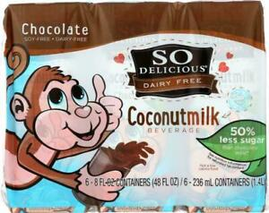 So Delicious-Coconut Milk - Chocolate Organic Dairy Free, Pack of 18 ( 8 FZ )