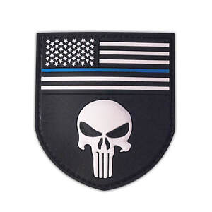 Punisher Shield Patch PVC Seal Team USA Aufnäher Special Force versch. Farben