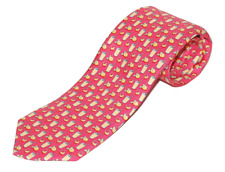 THOMAS PINK LEWIS TEXTURE  WOVEN TIES  Pink Red