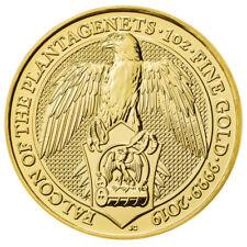 100 Pounds United Kingdom 2019 BU - 1 OZ Gold Queens Beast - Falcon