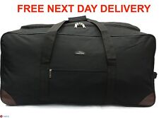 "Extra Large Wheeled Holdall Super Lightweight 33""83cm Black Cargo Travel Luggage"