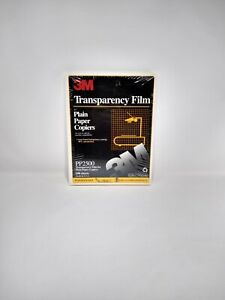 "3M Transparency Film For Plain Paper Copiers PP2500 100 Sheets 8.5""x11"""