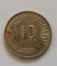 Singapore 10 Cents Seahorse Coin Year 1970, A Fine & Nice Coin