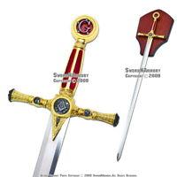 """39"""" Fraternal Masonic Sword Templar Knight Freemasonry"""