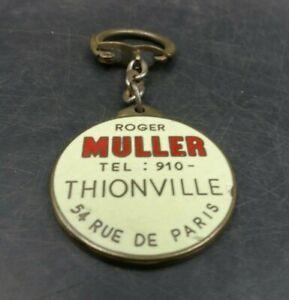 Porte clés Garage Muller Thionville VELOSOLEX LAMBRETTA Bourbon émaille clé clef