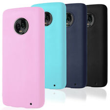 Plain Soft Cover for Motorola Moto G6 / G6 Plus Ultraslim Phone Case Silicone