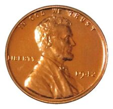 1942 LINCOLN WHEAT CENT GEM PROOF CONDITION RED