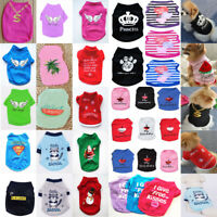 Chihuahua Summer Various Puppy Small Dog Cat Pet Clothes Vest T Shirts Apparel