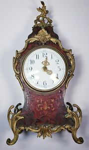 Antique French Decorative Bronze mounted rococo style mantle clock SF RA