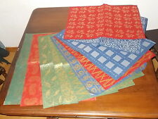 Lot de 20 feuilles de papier naturel avec fibres à Motifs Grand Format 50*70 cm