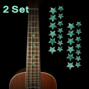 2 set Guitar Fret Decals Markers Inlay Fretboard Sticker Stars Shape Decor