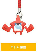 Pokemon Pokedex Rotom Sun & Moon Netsuke Strap Cell Phone Capsule Figurine Toy
