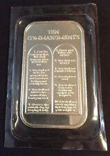 Ten Commandments 1 oz Silver .999 bar