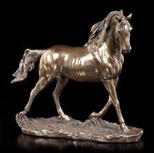 Pferde Figur bronziert - Veronese Statue Bronze-Optik Deko Reiter