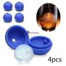 4pcs Death Star Wars Mould Whiskey Cocktail Ice Cube Ball Mold US Shipping BSTY