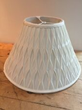 "UNIQUE SMOCKED PLEAT IVORY LAMPSHADE 7 3/4"" TOP X 18 1/2"" BOTTOM X 11 1/2"" TALL"