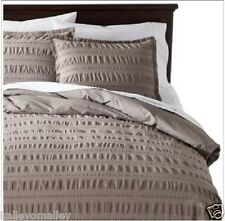NEW Threshold King Graystone Seersucker 3 Piece Duvet Set - Duvet & 2 Shams