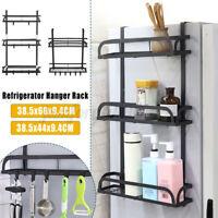 Wall Mount Refrigerator Side Hanger Rack Spice Holder Storage Shelf Kitchen US