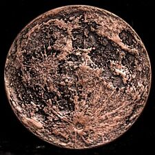 Blood Moon - Full Moon 14 Gram .999 Copper Antiqued Worry, Gift Or Reminder Coin