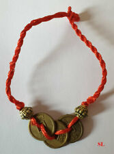 Bracelet Feng shui avec 3 pièces chinoises porte bonheur, richesse