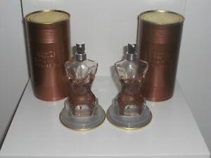 2 Flacon vide avec boite & support - JEAN PAUL GAULTIER - EAU DE PARFUM - VAPO