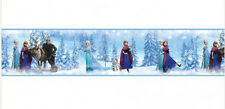 DISNEY FROZEN Princess wallpaper border 15' self stick decal Anna Elsa Olaf Sven