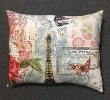 "Beautiful Handmade Parisian Eiffel Tower Accent - Throw Pillow 10"" x 9"""