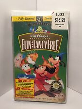 Brand New Sealed Walt Disney Fun and Fancy Free VHS Free Shipping