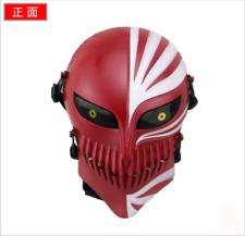 Red Bleach Ichigo Kurosaki Cosplay Full Hollow Halloween Party PVC Mask Gift