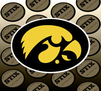 Iowa Hawkeyes Logo NCAA Die Cut Vinyl Sticker Car Window Bumper Decal