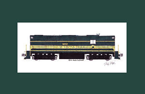 """Maine Central RS11 #802 11""""x17"""" Matted Print Andy Fletcher signed"""