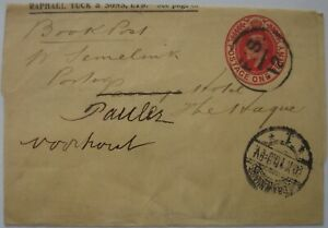 Edward VII: 1d red Wrapper; 'FS 12' cancellation to The Hague.