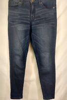 Women's Mossimo Jeans Medium Wash Size 6 Skinny Back Zippers
