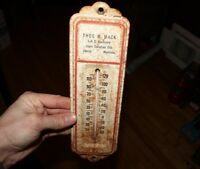 Vintage Tin Thermometer Advertising Sign Anglo Oil IHC International Harvester
