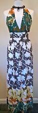 G Heaven ladies lovely floral long halterneck V Neck Maxi Dress UK Size 10-12